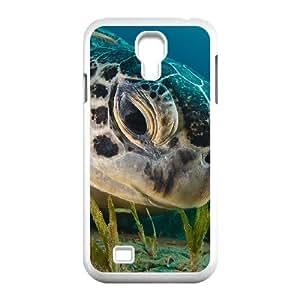 Samsung Galaxy S4 Case Green Sea Turtle, Samsung Galaxy S4 Case Sea Creature Cheap For Girls, [White]