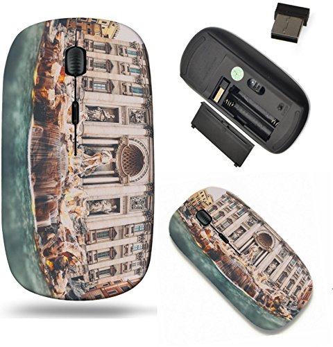 Liili Wireless Mouse Travel 2.4G Wireless Mice with USB Receiver, Click with 1000 DPI for notebook, pc, laptop, computer, mac book IMAGE ID 32391999 Vintage style photograph of Trevi Fountain Fontana