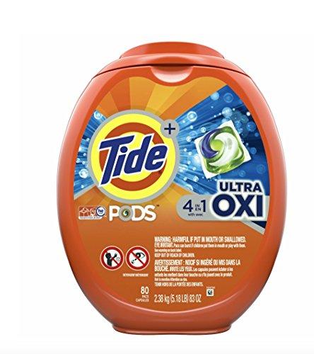 Amazon.com: Tide PODS Ultra Oxi Liquid Detergent Pacs, 80 ...