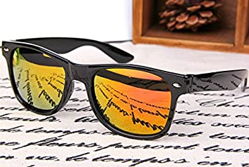 Lubier 1 Pcs Polarized Sunglasses Reflective sunglasses for Men Women Driving Glasses Large Frame Sunglasses Outdoor Activities yellow