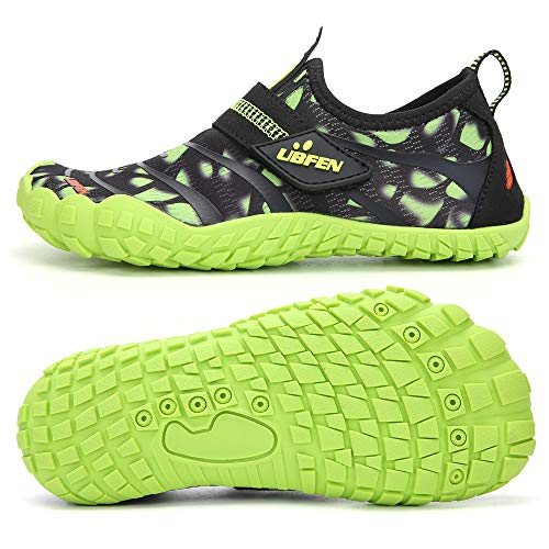 UBFEN Water Shoes for Kids Boys Girls Aqua Socks Barefoot Beach Sports Swim Pool Quick Dry Lightweight Toddler Little Big Kid