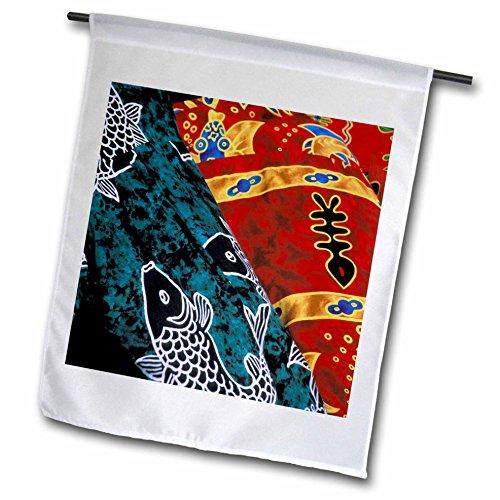 3dRose fl_85153_1 Society Islands/French Polynesia/Market/Batik Oc13 Tgi0003 Todd Gerstein Garden Flag, 12 by 18-Inch