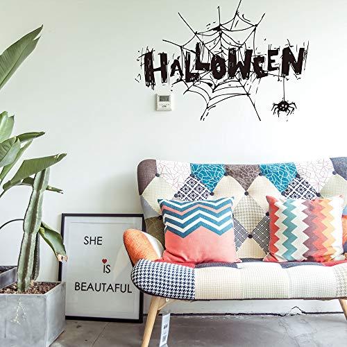 Ankola Halloween Wall Sticker Happy Halloween Letter Pattern
