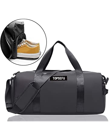 56899a3404b0be TOPSEFU Dry Wet Separated Sports Gym Bag with Shoes Compartment, Large Gym  Duffle Holdall Bag