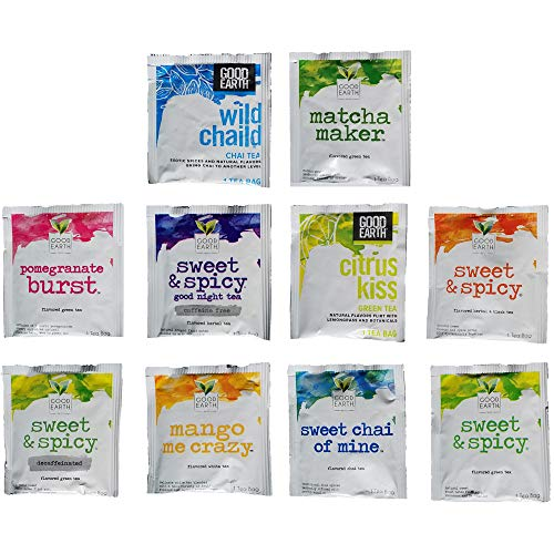 Good Earth Herbal Tea Assorted Sampler Gift Box 10 Flavors 3 of Each (30 Count)