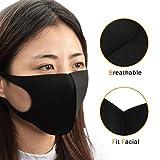 Tattoo Mask,Chartsea Men Women 3 Layers Health Cycling Anti-Dust Cotton Mouth Face Mask Respirator (Black)