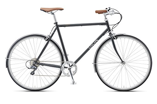 Viva Legato 8 Metallic Grey 58 cm Mustache Bar City 700 C Bicycle