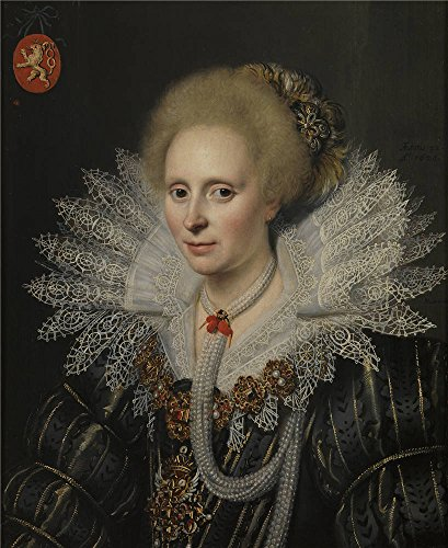 Oil Painting 'Mierevelt Michiel Janszoon Van Retrato De Una Senora De La Familia Van Beijeren Van Schagen (Theodora Van Duvenvoorde)' 24 x 29 inch / 61 x 75 cm , (All Star Motors Halloween)