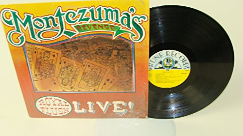 VINTAGE VINYL LP RECORD,MONTEZUMA'S REVENGE ROYAL FLUSH LIVE 1977 PRUNE RECORDS RARE