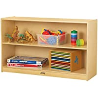 Jonti-Craft 0393JC Low Straight-Shelf Mobile Unit