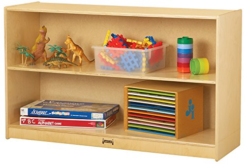 Jonti-Craft 0393JC Low Straight-Shelf Mobile Unit by Jonti-Craft