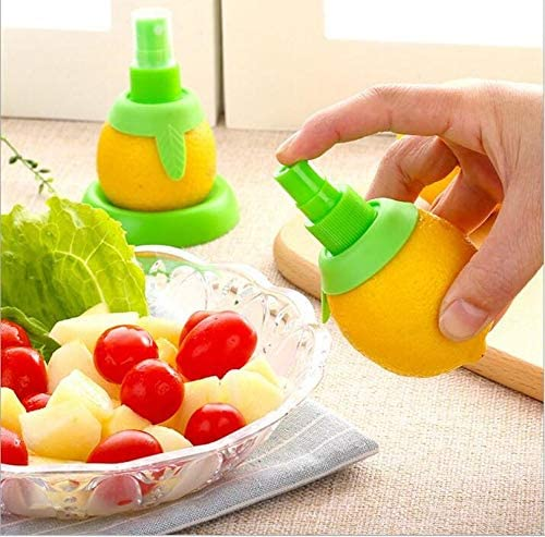 Seafood and Cooking Fashionable Kitchen Gadget MEETOZ 3 Pcs Creative Lemon Juice Sprayer Green Citrus Sprayer Set Salads Lime Juicer Extractor for Vegetables