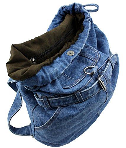WESTERN-SPEICHER Jeans Rucksack City Blau