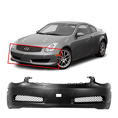 MBI AUTO Primered, Front Bumper Cover Fascia for 2003-2007 Infiniti G35 Coupe 2-Door 03-07, IN1000122