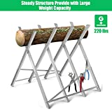 Goplus Portable Sawhorse Heavy Duty Adjustable
