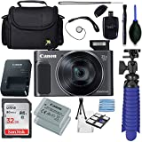 Canon Powershot SX620 (Black) + 32GB SD Memory Card Accessory Bundle