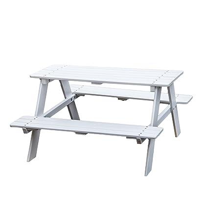 KAO Mart Kids Childrenu0027s Wooden Picnic Table Bench