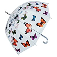 """RainStoppers W3467 Clear Dome Butterfly Print Arc, 46"""", Multi"""