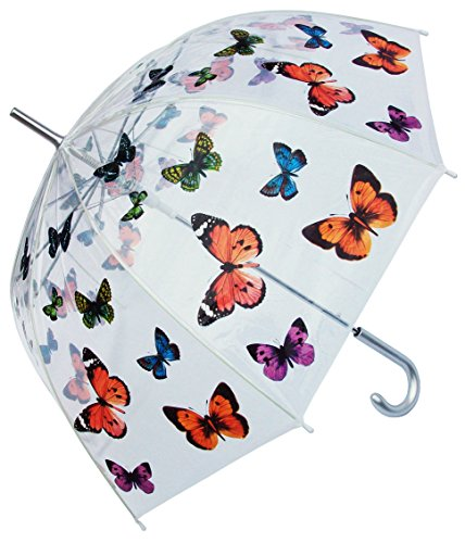 RainStoppers W3467 Clear Dome Butterfly Print Arc, 46
