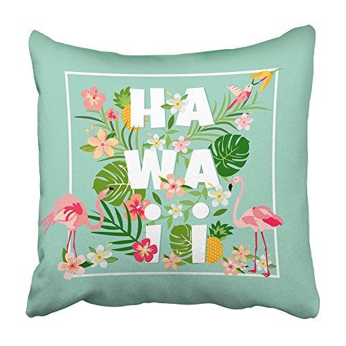 Emvency Decorative Throw Pillow Covers Cases Aloha Hawaiian