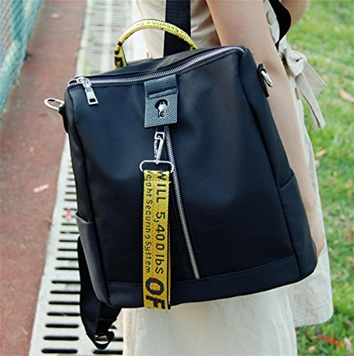 pengweiElegante lienzo doble hombro bolso damas ocio estudiante mochila solo hombro oblicuo cruz paquete
