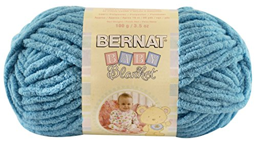 Chenille Knitting Patterns (Bernat  Baby Blanket Yarn - (6) Super Bulky Gauge  - 3.5oz -  Teal  - Single Ball  Machine Wash & Dry)