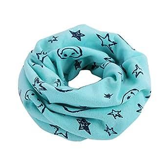 FEITONG Otoño invierno Niños niñas collar del bebé bufanda de algodón Cuello redondo Bufandas (A)