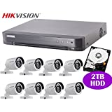 Hikvision 8CH HD CCTV System with 8CH DVR + 2TB HDD and 2MP IR Outdoor Bullet Camera x8