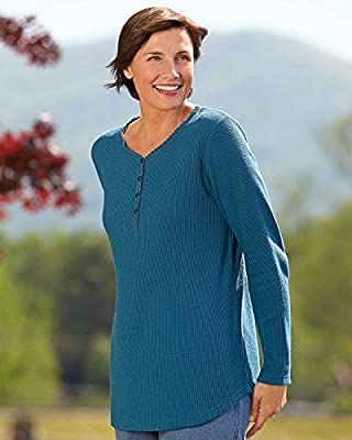 National Crochet Thermal Henley
