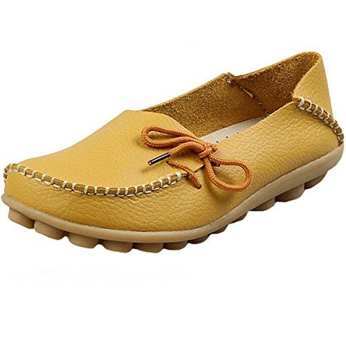 Hishoes, Mocassini donna, giallo (Yellow), 35