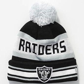 New Era Oakland Raiders Bobble Hat - Black White - One Size UK   Amazon.co.uk  Clothing 4c1d1e1ed52