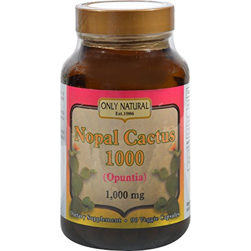 2Pack! Only Natural Nopal Cactus 1000 - 1000 mg - 90 Veggie Capsules