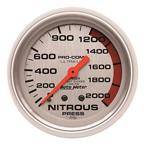 Auto Meter 4428 Ultra-Lite Mechanical Nitrous Pressure Gauge by Auto Meter (Image #1)