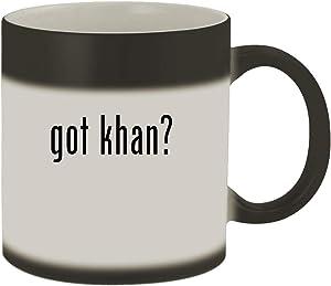 got khan? - Ceramic Matte Black Color Changing Mug, Matte Black