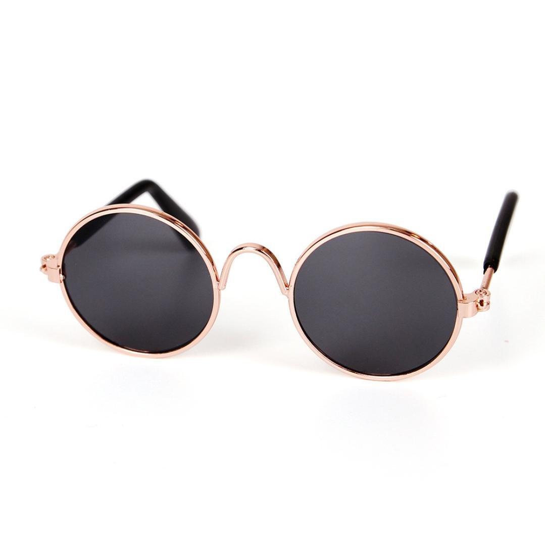 Sumen Pet Cat Dog Fashion Sunglasses UV Sun Glasses Hot Sale Eye Protection Wear (Black)