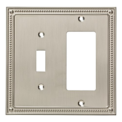 Franklin Brass W35063-SN-C Classic Beaded Switch/Decorator Wall Plate/Switch Plate/Cover, Satin Nickel ()