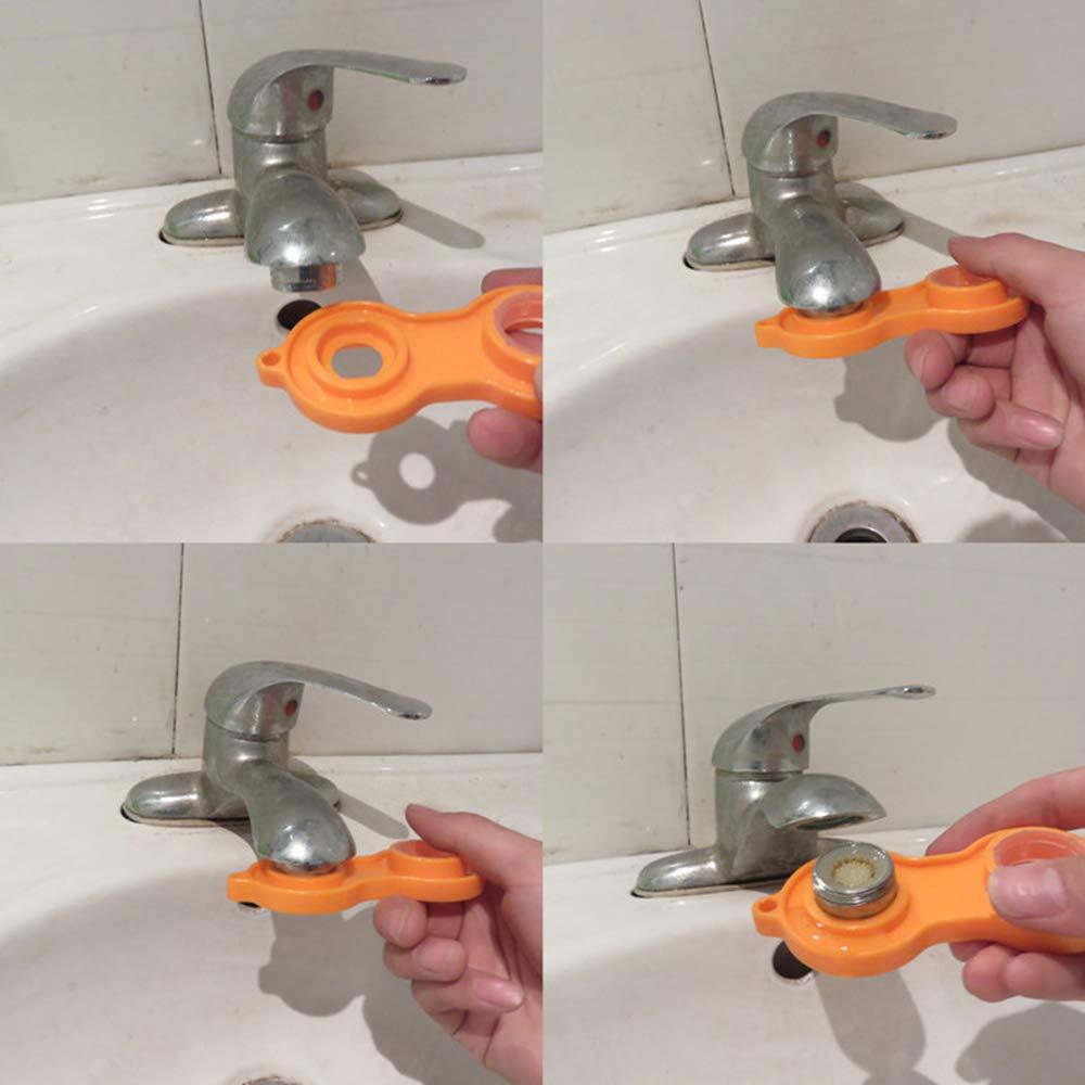 boquilla mezcladora con filtro ABS Filtro grifo de accesorios de grifo incluye llave de boquilla mezcladora 10 unidades Aireador para Grifos M24 Atomizador Ecol/ógico de Agua