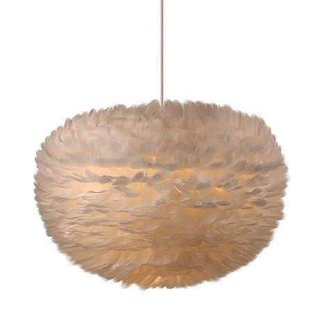 Amazon.com: Newrays - Lámpara de techo con diseño de plumas ...