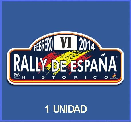 Ecoshirt PP-G8J1-OL00 Pegatinas Stickers España Histórico 2014 Dp494 Aufkleber Autocollants Adesivi Car Decals Rally Rallies: Amazon.es: Coche y moto