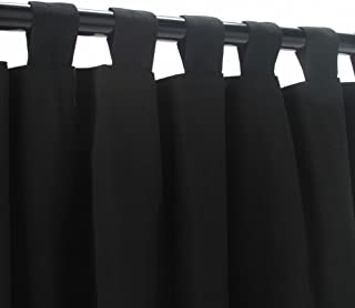 product image for Hatteras Hammocks Black Onyx WeatherSmart Outdoor Curtain with tabs 84 Long