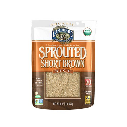 Lundberg Organic Sprouted Short Brown Rice -- 16 oz - 2 pc