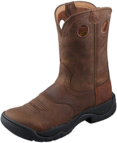 Twisted X Womens All Around Boot, Distressed/Distressed Saddle, Size 8