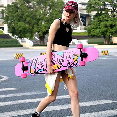 HBJP Longboard-Skateboardjungen und -mädchen bürsten Straßen-Skateboardanfänger Straßen-Skateboardanfänger Straßen-Skateboardanfänger Karierten Schwarzweiss-Roller Skateboard (Farbe   C) B07Q3BD9WQ Skateboards Ausgezeichneter Wert b2ecf9