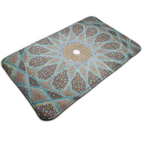 HengZhe Door Mat Geometry Flora Pattern Entrance Rug,Fade Resistant Floor Mats,Slip-Proof Bathroom Mat,Shoes Scraper Carpet,19.5x31.5x0.47 Inches -