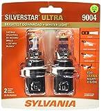 SYLVANIA 9004 SilverStar Ultra High Performance Halogen Headlight Bulb, (Contains 2 Bulb)