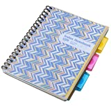 MaxGear Subject Notebook Memorandum Book Index Divider with 3 tabs ,Recording Book spiral Wirebound notebook for Work,College Ruled ,Assorted Colors ,Blue Wave