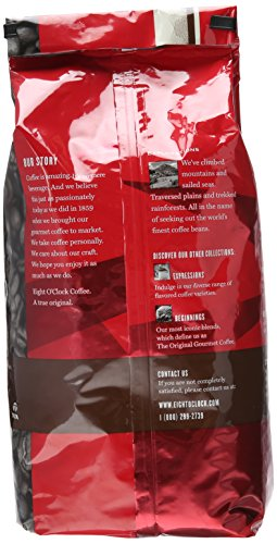 Eight O'Clock Whole Bean Coffee, Colombian Peaks, 40 Ounce