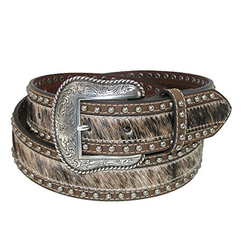 Roper Men's Hair on Calf with Smooth Leather 38mm Belt, 46, (Smooth Mens Roper)