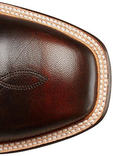 Stetson Mens JBS Handmade 13&quot Corded Calvary SQ Toe DBL Welt Chocolate Brown Brush Off Yd93h