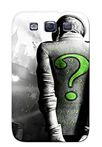 New Batman Arkham City The Riddler Batman Arkham City Tpu Case Cover, Anti-scratch CiWvLPk3492IoZVm Phone Case For Galaxy S3 With Design by icecream design